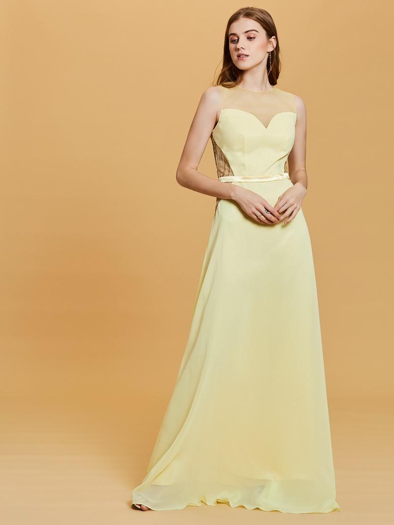 Ericdress Scoop Neck Gilding A Line Prom Dress