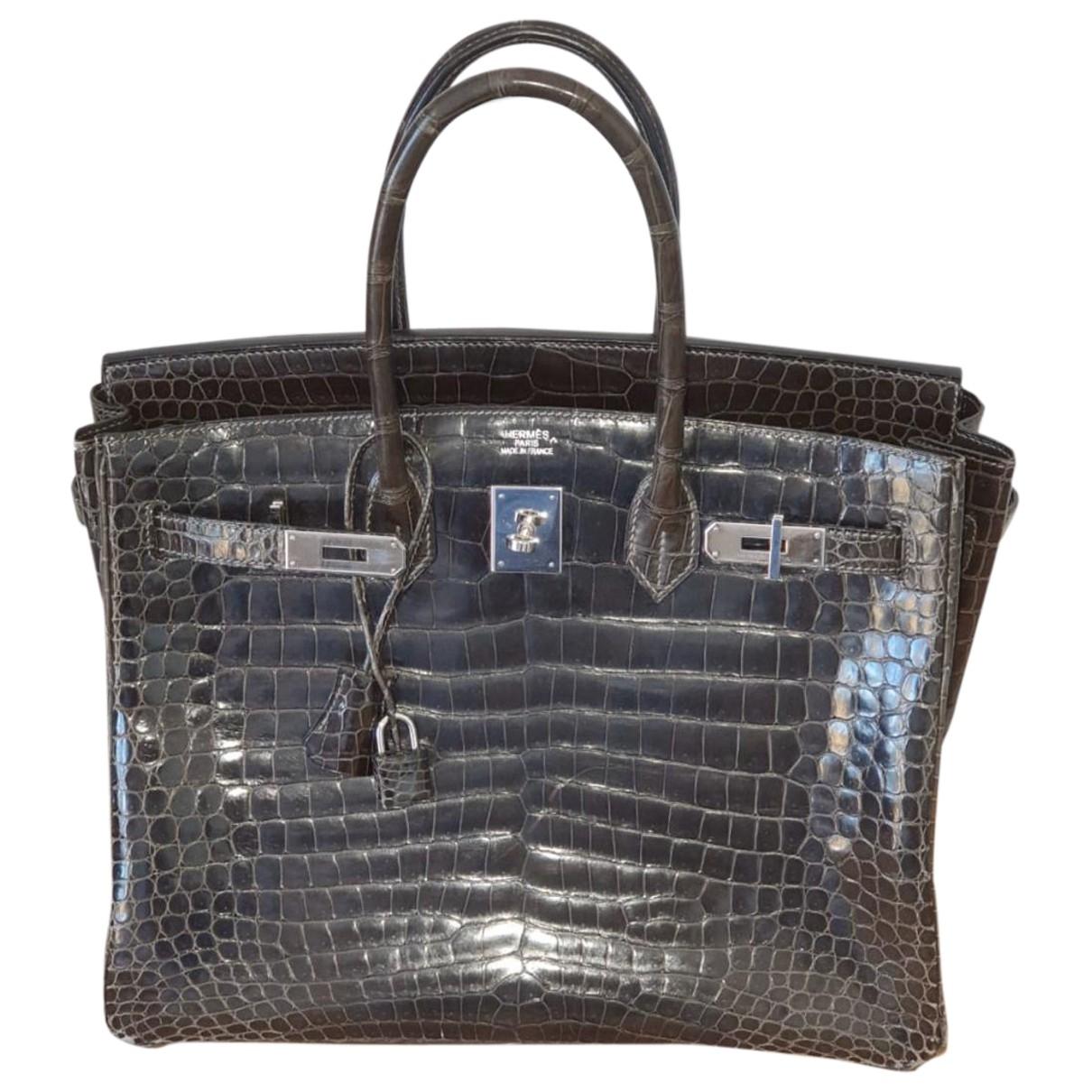 Hermès Birkin 35 Brown Crocodile handbag for Women \N