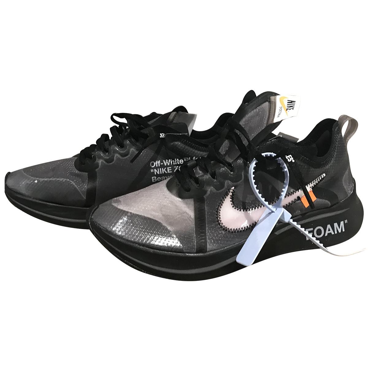 Nike X Off-white Zoom Fly Sneakers in  Schwarz Leinen