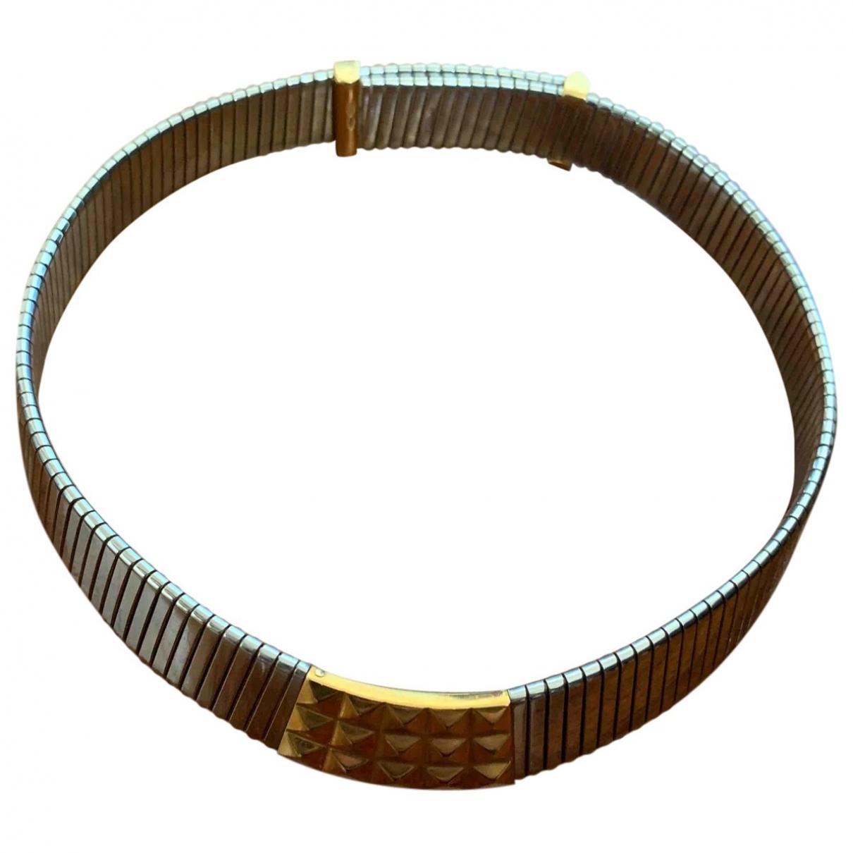 Bvlgari - Collier Tubogas pour femme en or et acier - argente