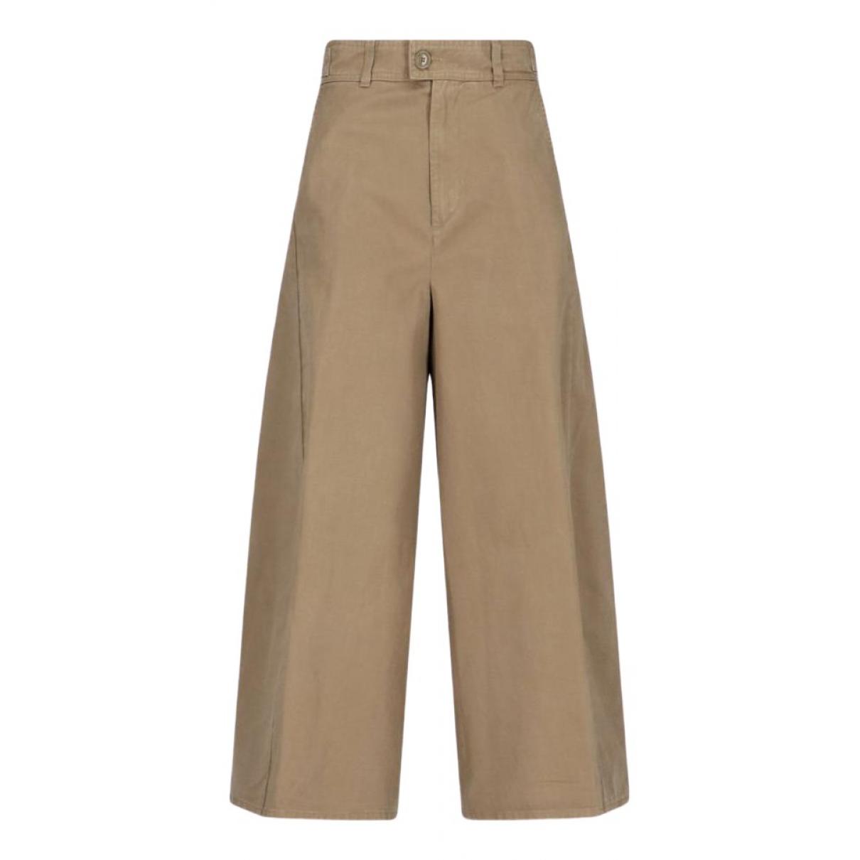 Pantalon en Algodon Camel Aspesi