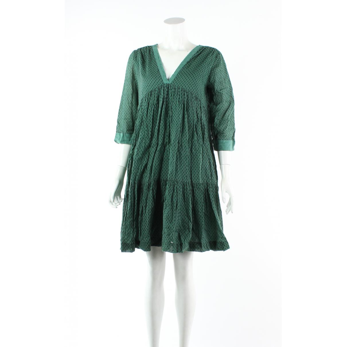 Braschi \N Kleid in  Gruen Baumwolle