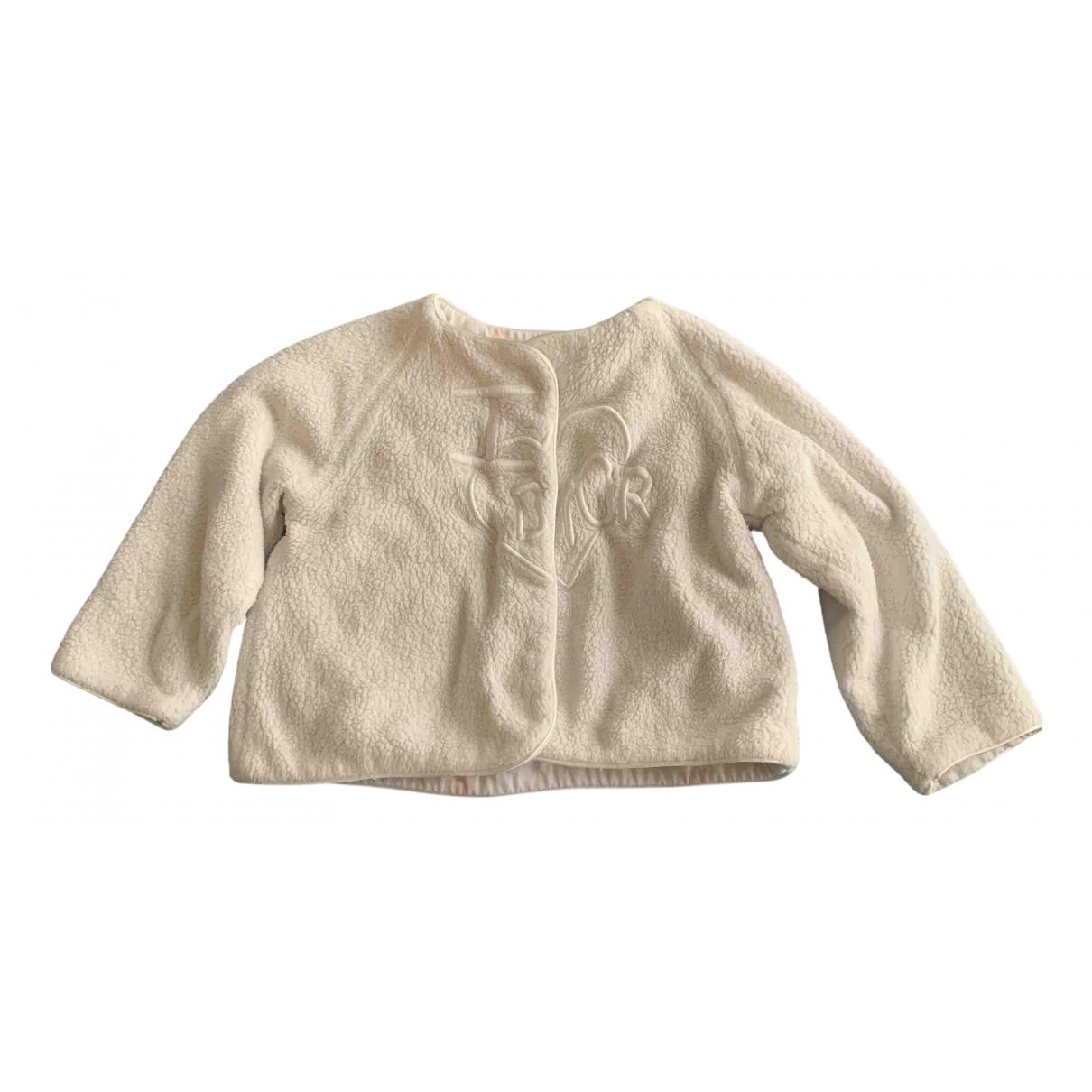 Baby Dior - Pull   pour enfant en coton - blanc