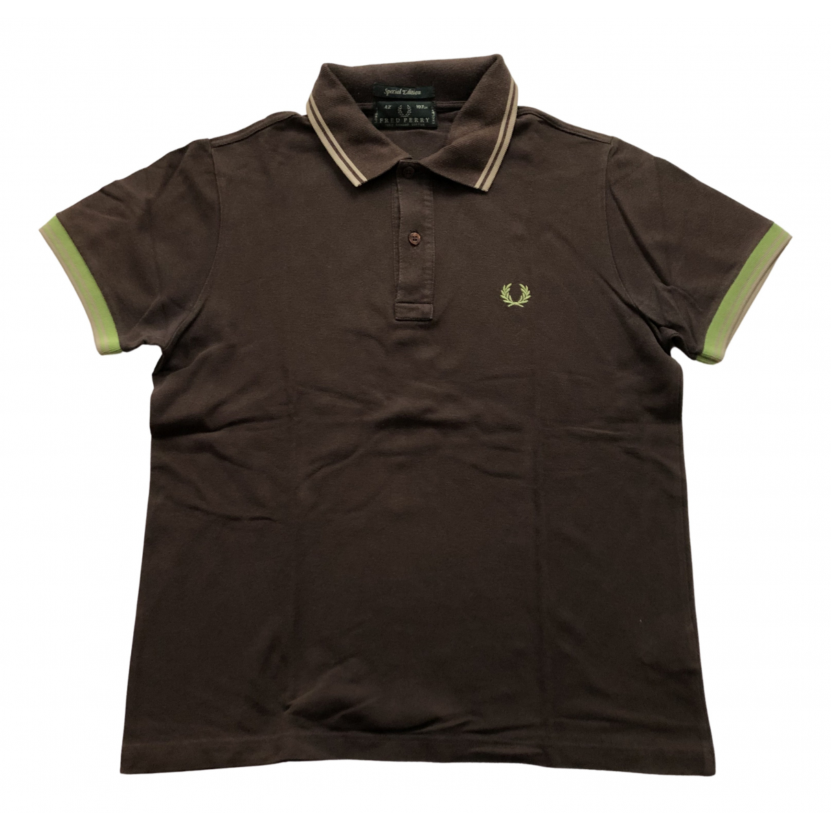 Fred Perry N Brown Cotton Polo shirts for Men L International