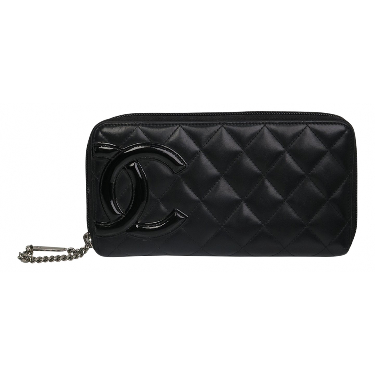Chanel Cambon Black Leather wallet for Women N