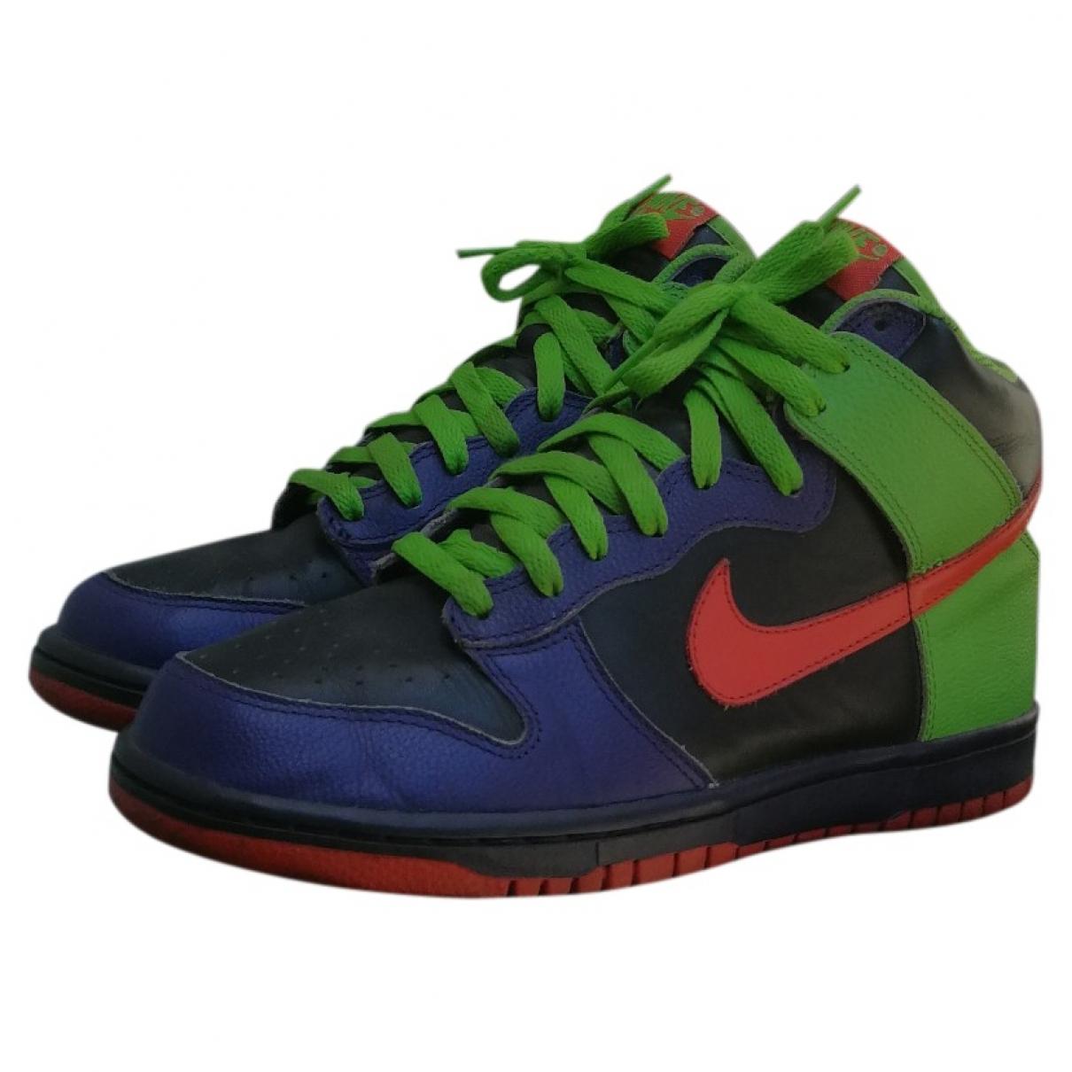 Nike - Baskets SB Dunk  pour homme en cuir - multicolore