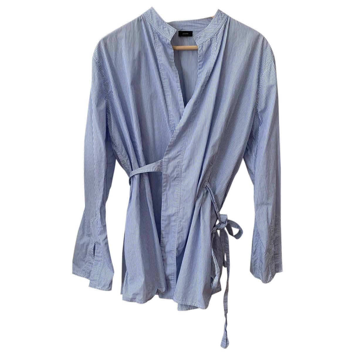 Joseph - Top   pour femme en coton - bleu