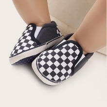 Baby Boy Checkerboard Slip On Sneakers