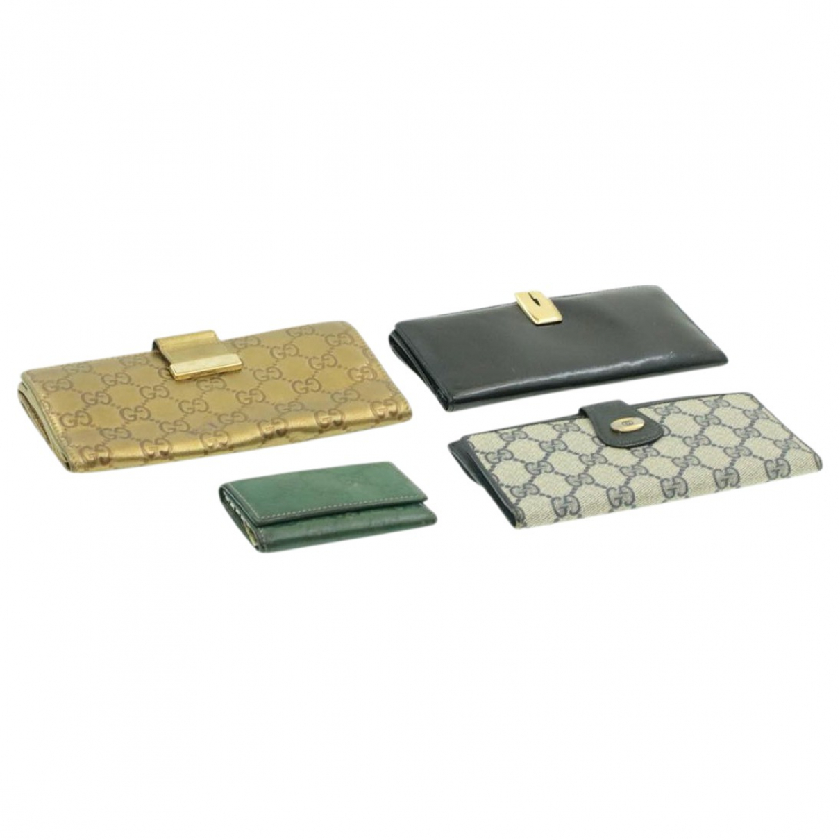 Gucci \N Gold Cloth Purses, wallet & cases for Women \N