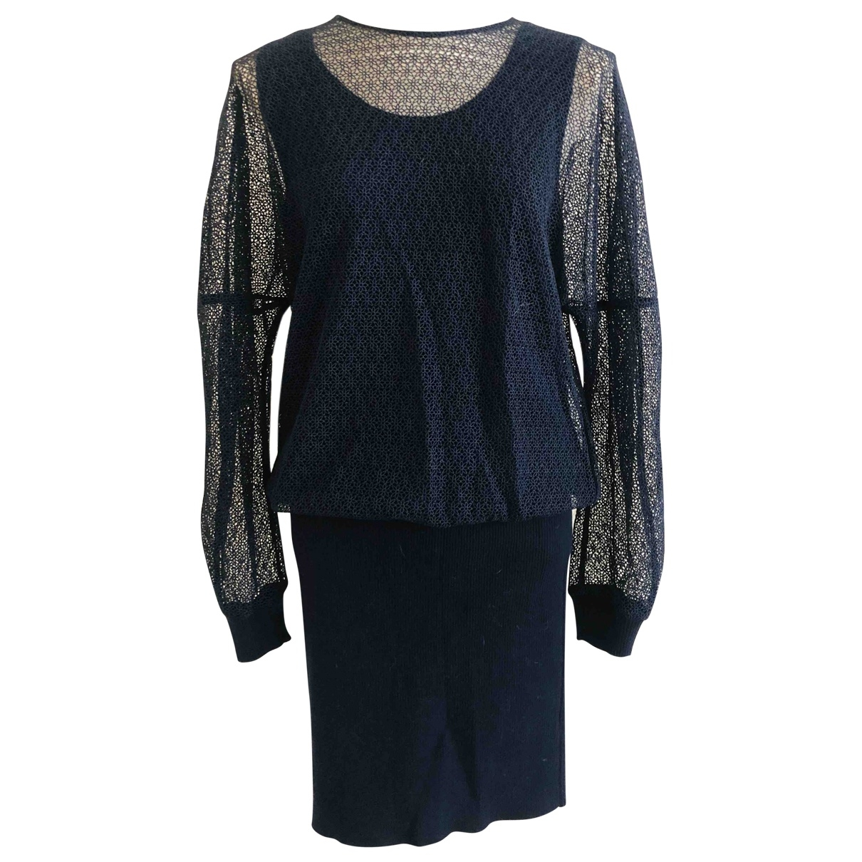Chloe \N Kleid in  Marine Wolle