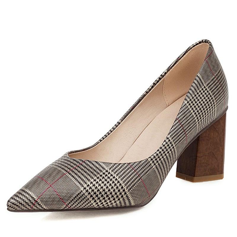 Ericdress Slip-On Chunky Heel Thread Casual Pumps
