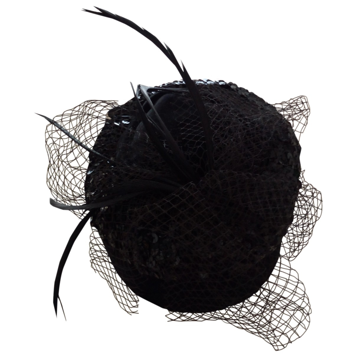 Non Signé / Unsigned \N Black Suede hat for Women 54 cm