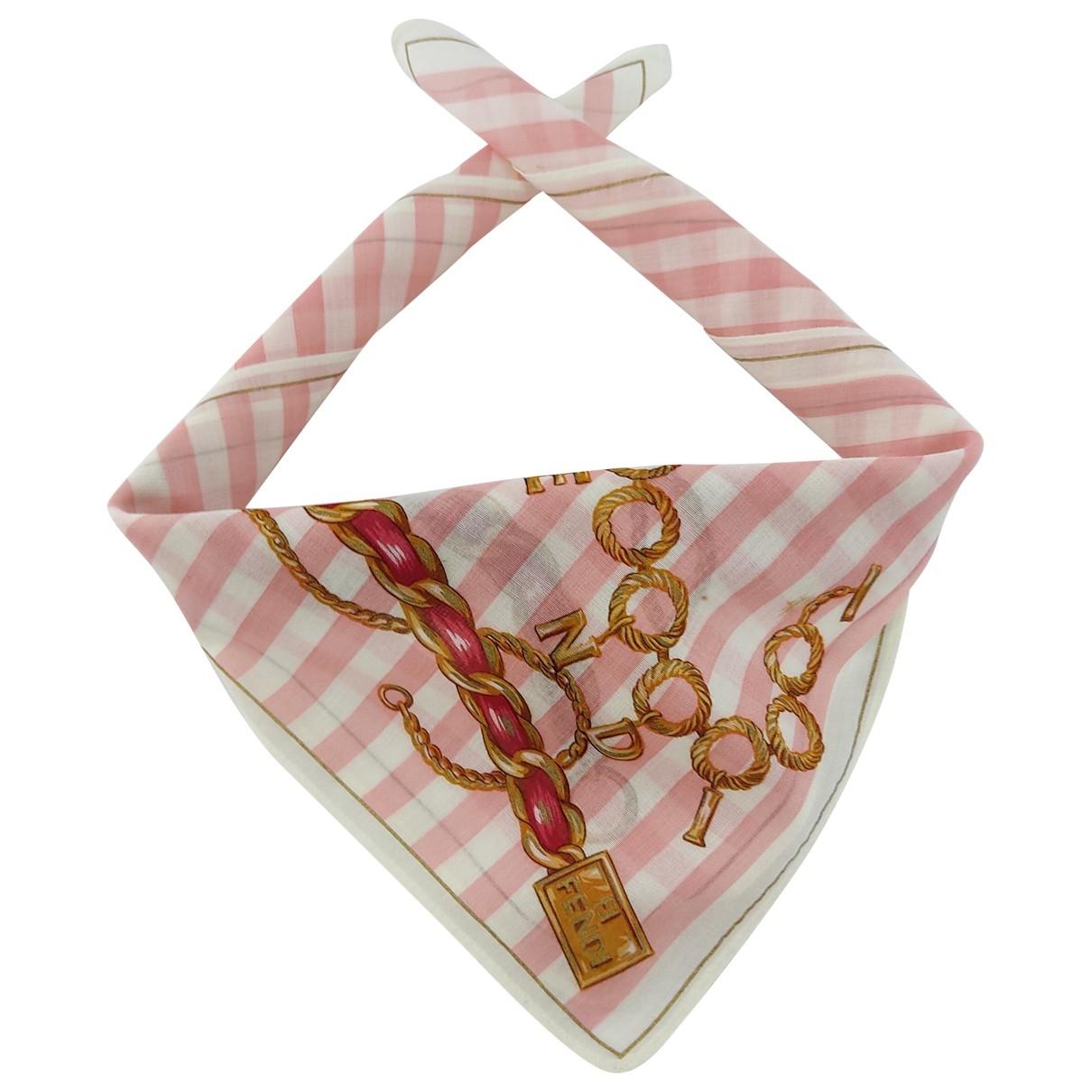 Fendi \N Pink Cotton scarf & pocket squares for Men \N