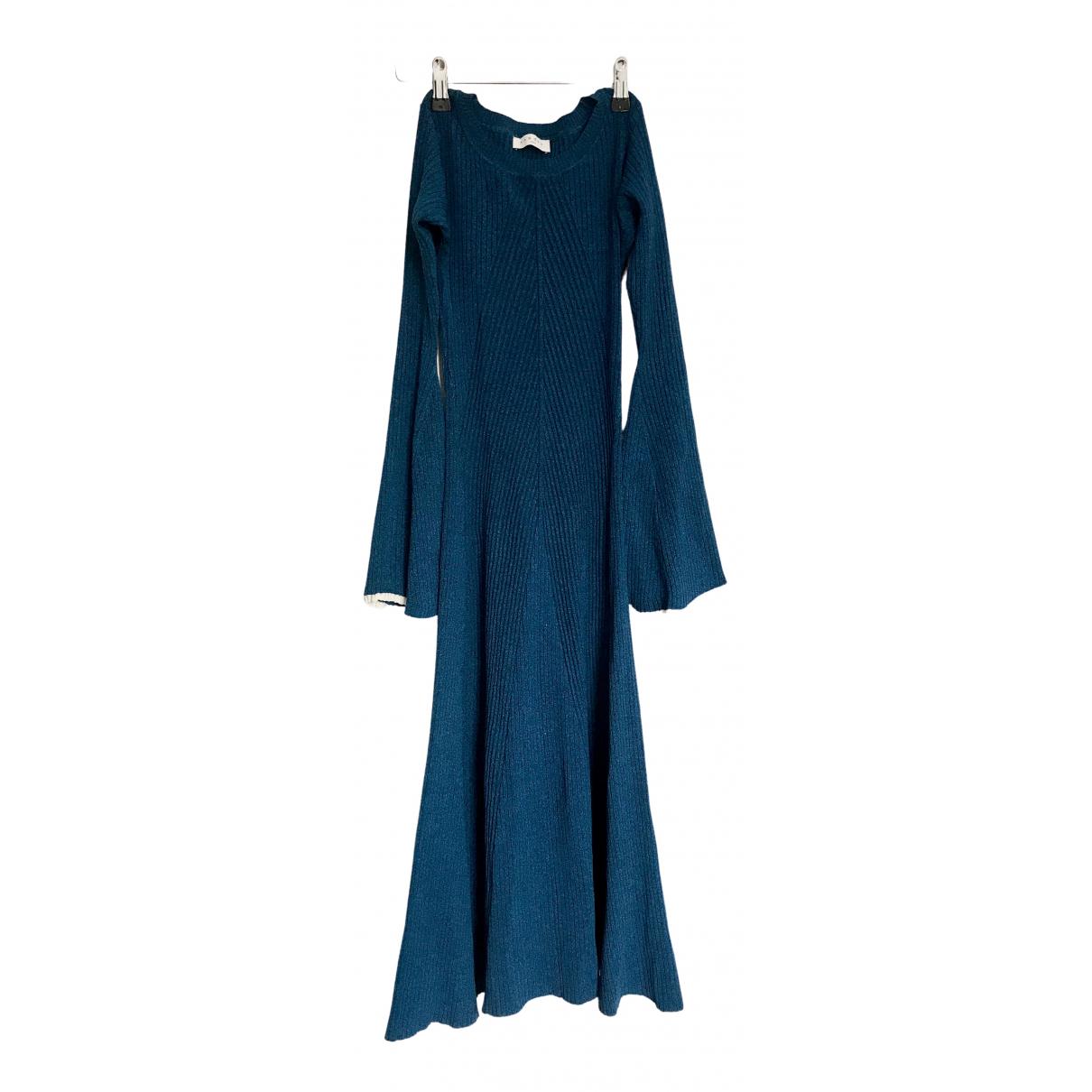 Sandro Fall Winter 2019 Kleid in  Blau Viskose