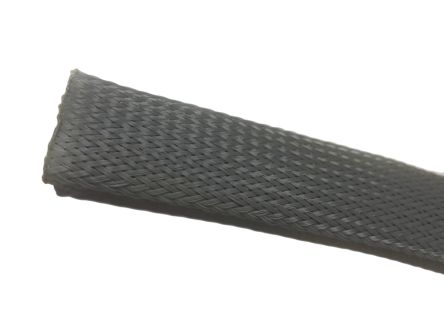 RS PRO Expandable Braided PET Grey Cable Sleeve, 6mm Diameter