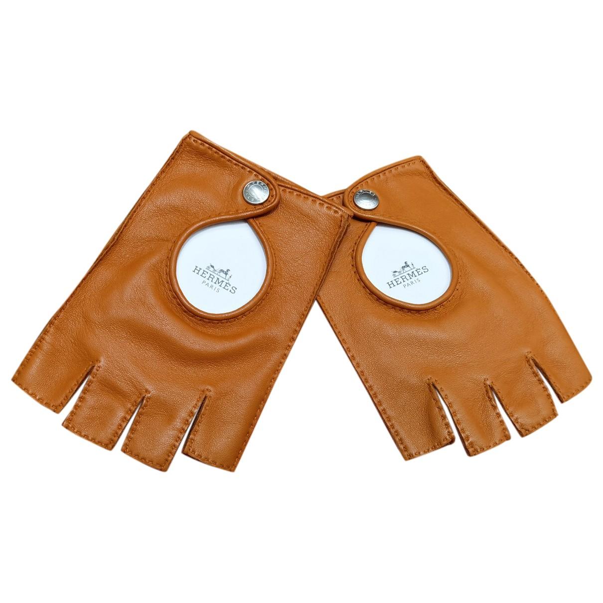 Hermes \N Handschuhe in  Kamel Leder