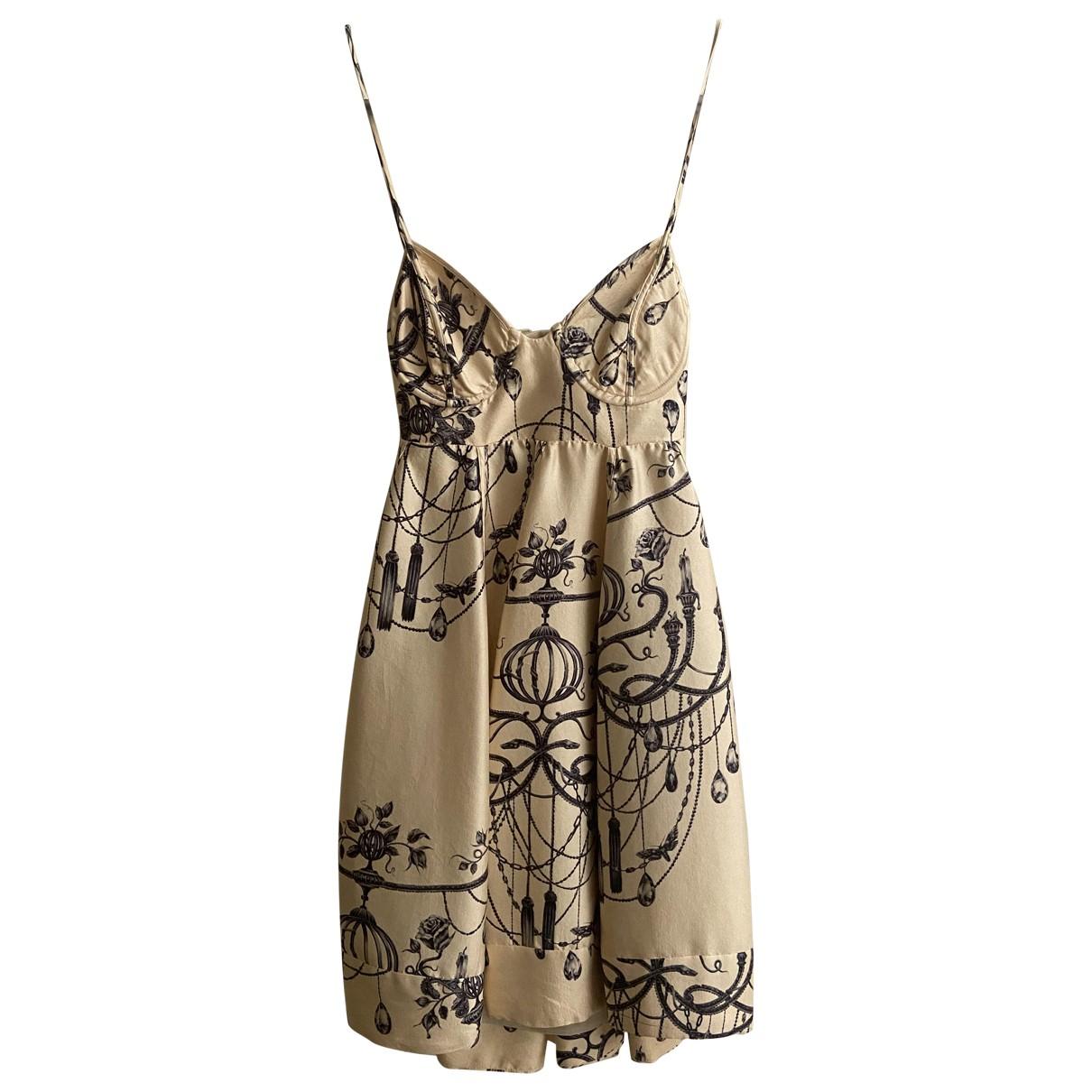 Zimmermann \N Beige Silk dress for Women 1 0-5