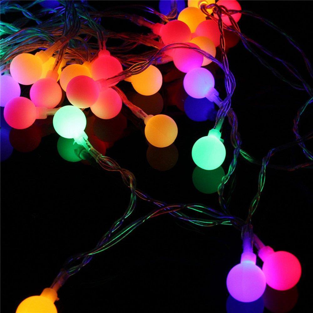 30PCS LED Cherry Matte Balls String Lights Multi-colour