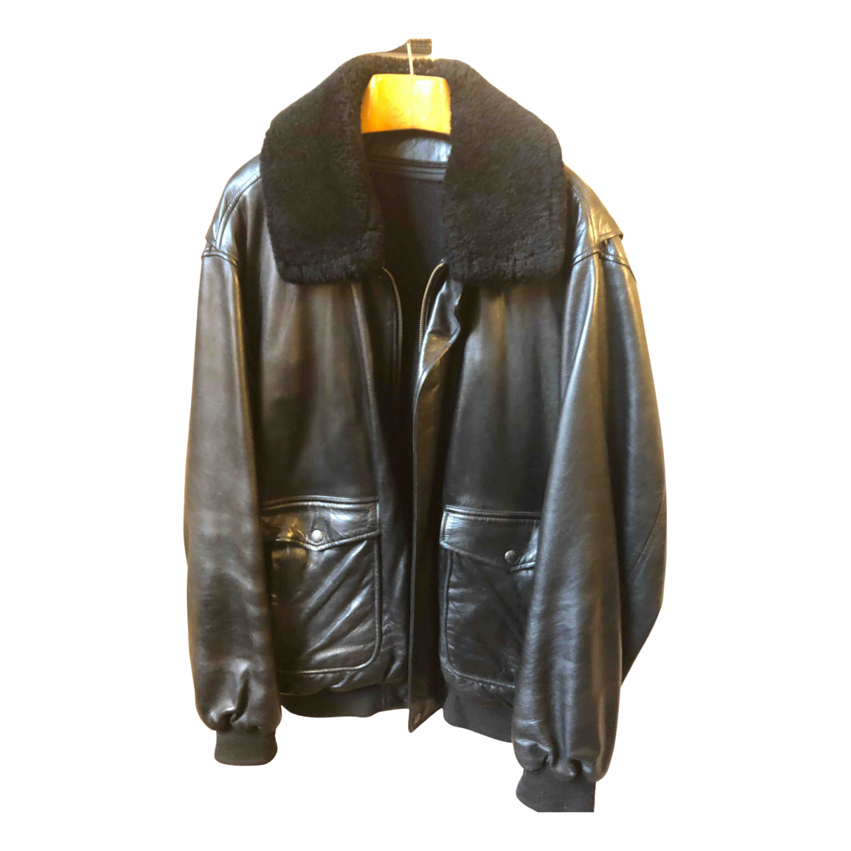 Mac Douglas N Black Leather jacket  for Men XXL International