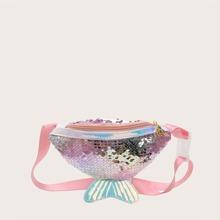 Girls Sequin Fishtail Fanny Pack