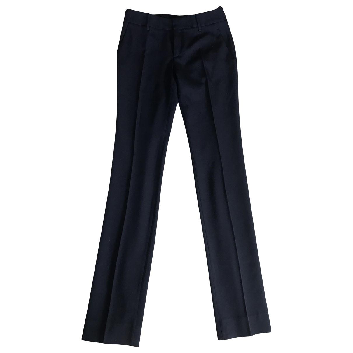 Gucci \N Black Wool Trousers for Women 38 FR