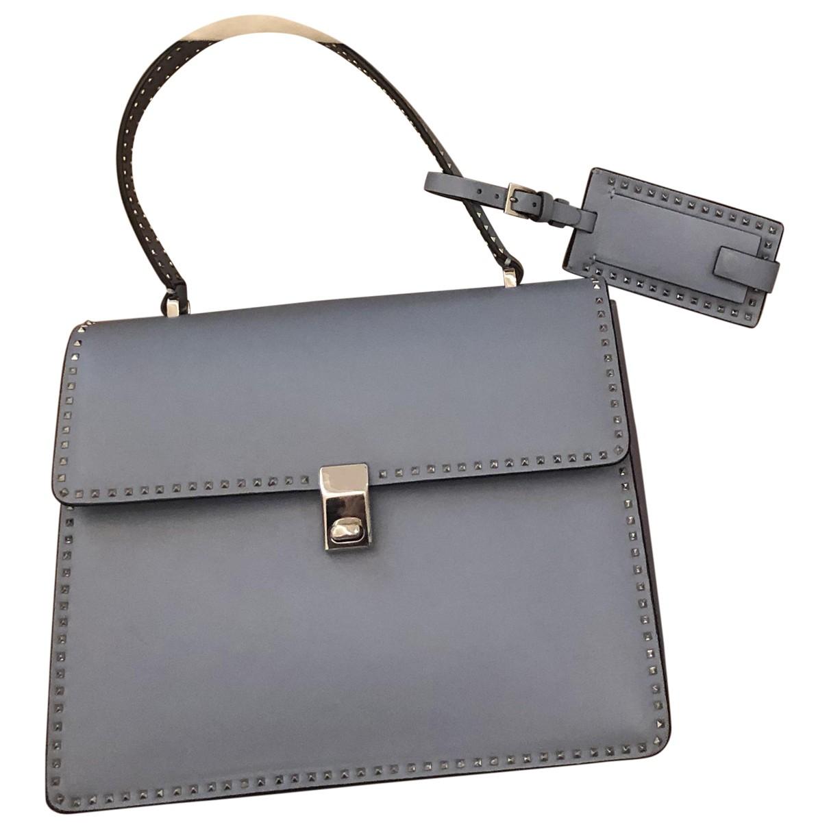 Valentino Garavani My Rockstud Handtasche in  Blau Leder