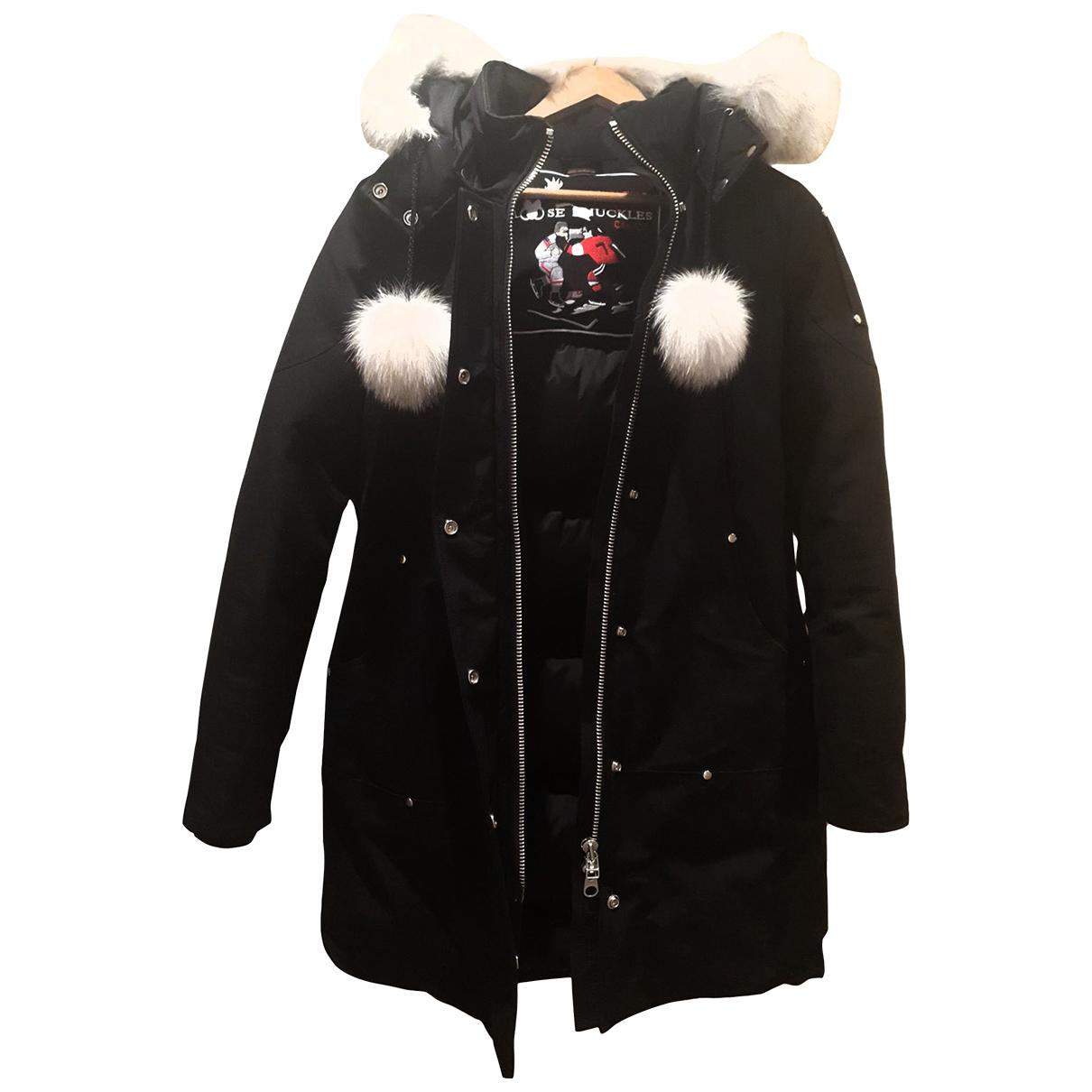 Moose Knuckles - Manteau   pour femme en coton - noir