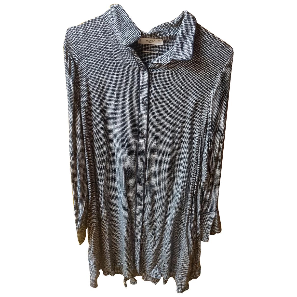 Mango \N Kleid in  Grau Baumwolle