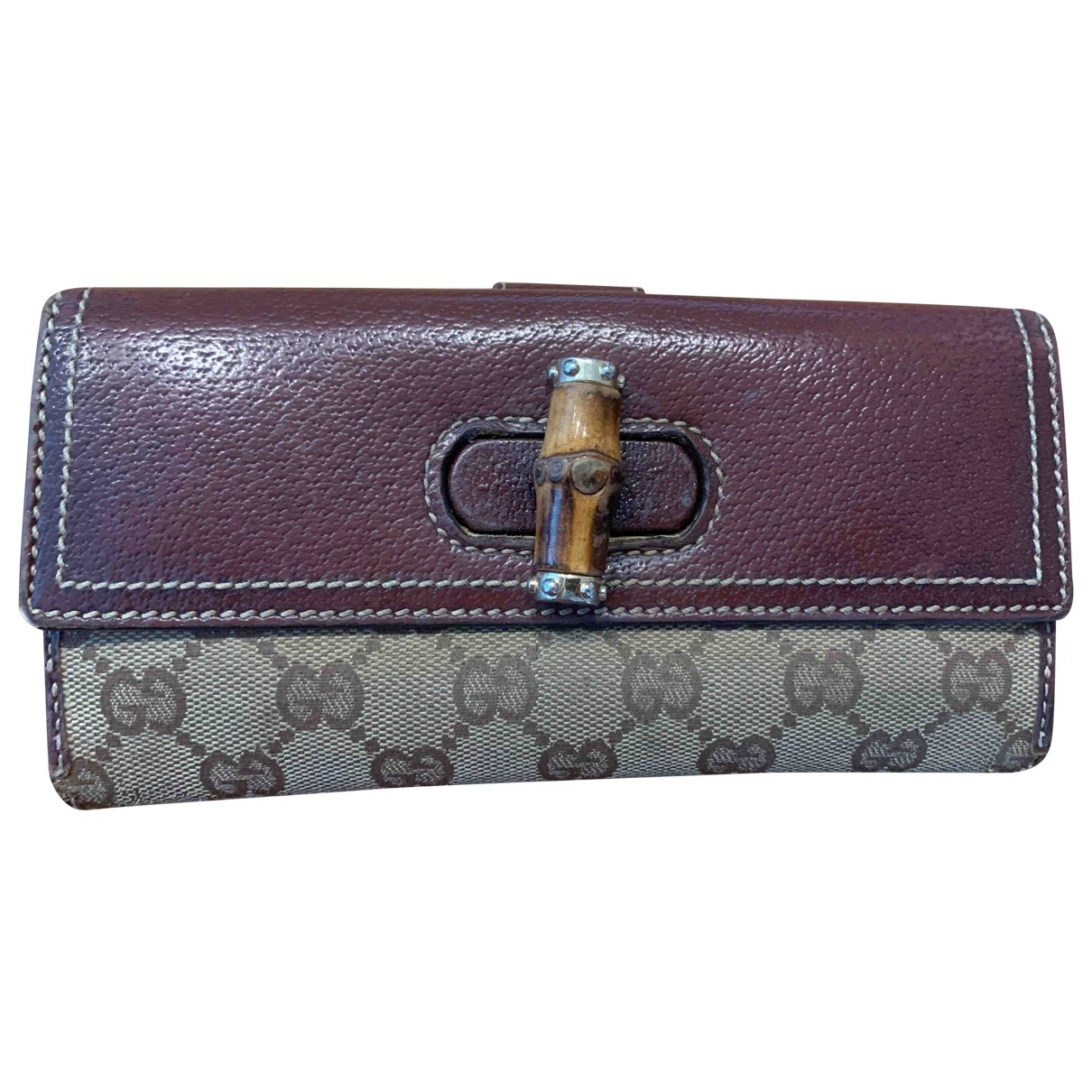 Gucci Continental Brown Cloth wallet for Women \N