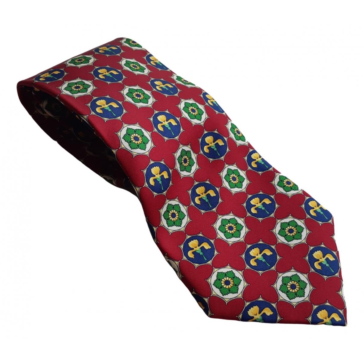 Fendi \N Krawatten in  Bordeauxrot Seide