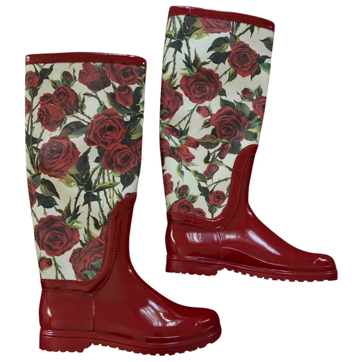 Dolce & Gabbana \N Stiefel in  Rot Kunststoff