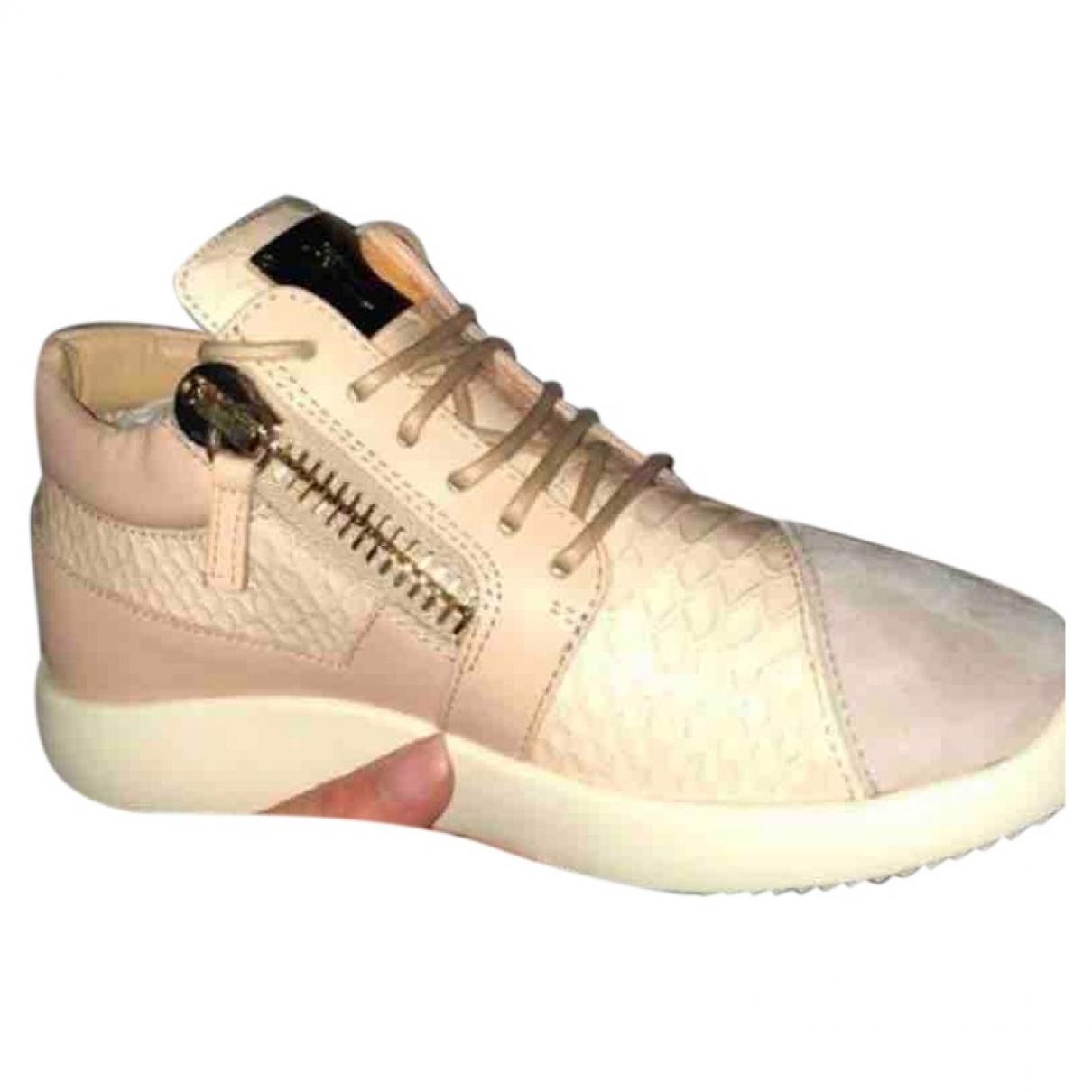 Giuseppe Zanotti Donna Sneakers in  Beige Exotenleder