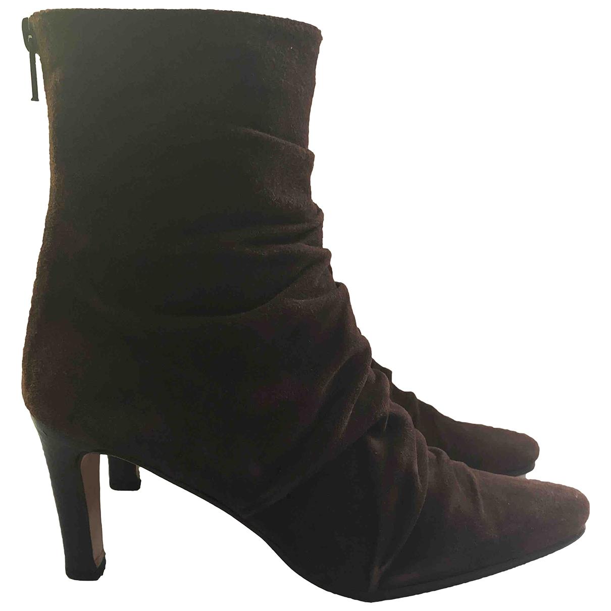 Guido Pasquali - Boots   pour femme en suede - marron