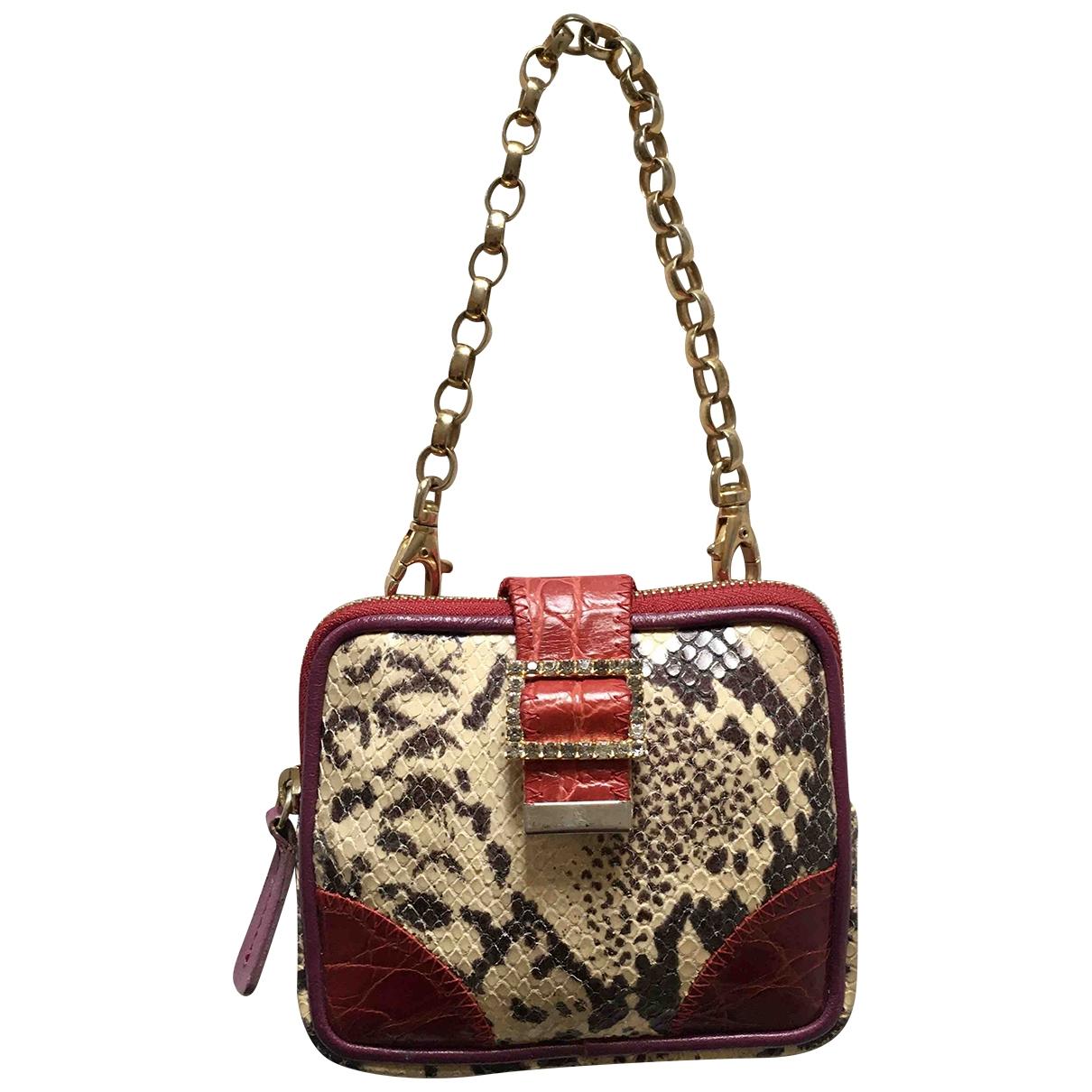 Pinko \N Handtasche in  Bordeauxrot Echse