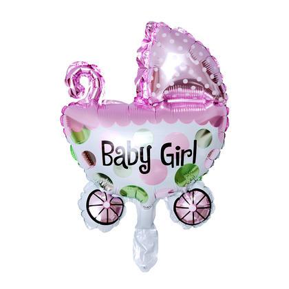 Ballon d'aluminium mini ballon bébé fille, ballon d'hélium buggy mylar, 17