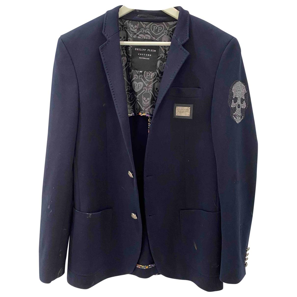 Philipp Plein \N Navy Cotton jacket  for Men 52 IT