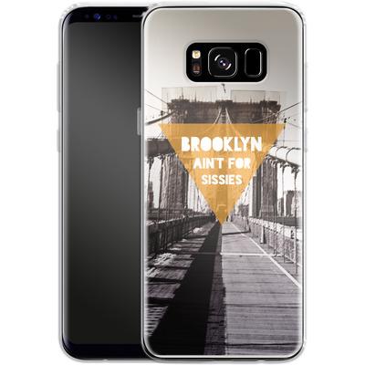 Samsung Galaxy S8 Silikon Handyhuelle - BKLYN Aint For Sissies von Statements