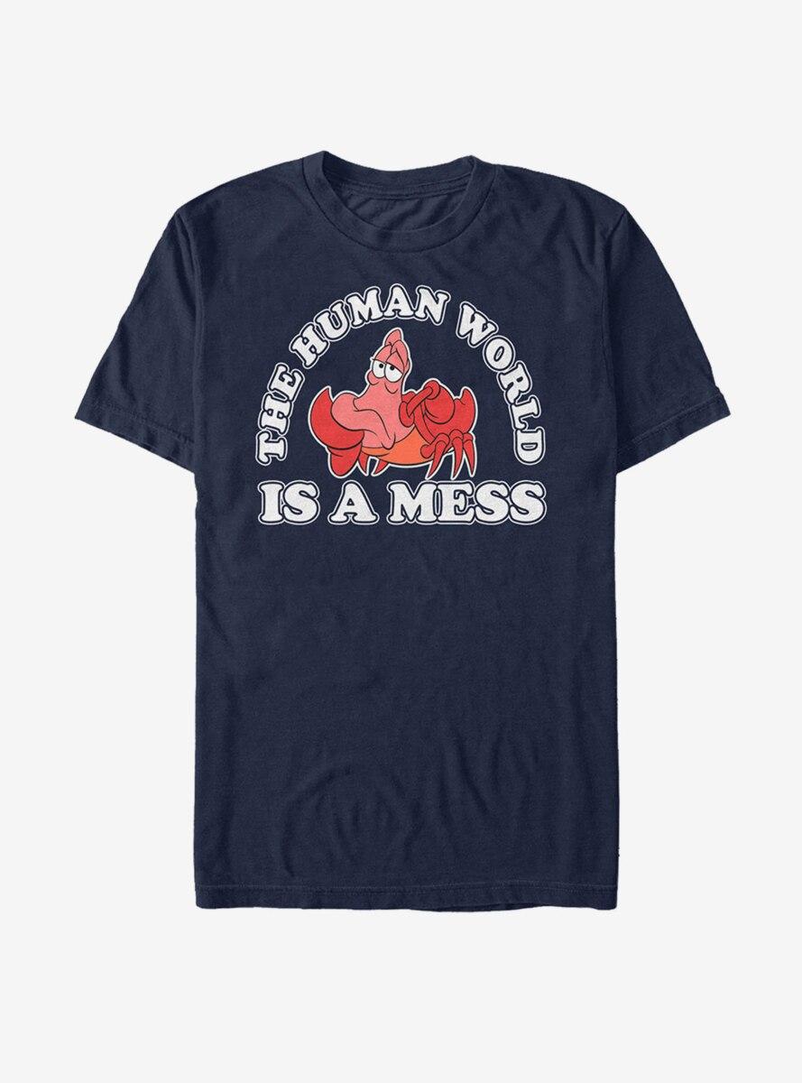 Disney The Little Mermaid Sebastian Mess T-Shirt