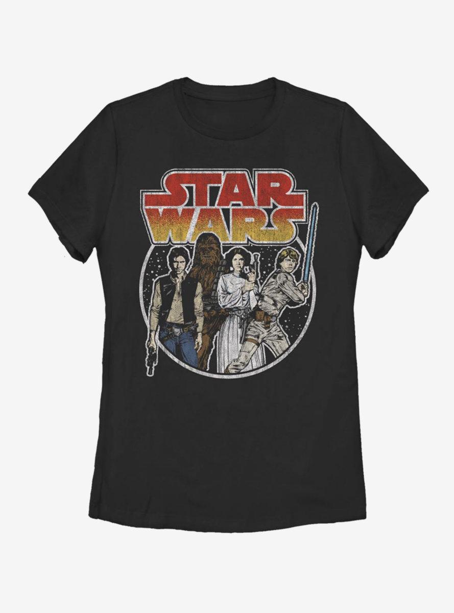 Star Wars Rebel Group Womens T-Shirt