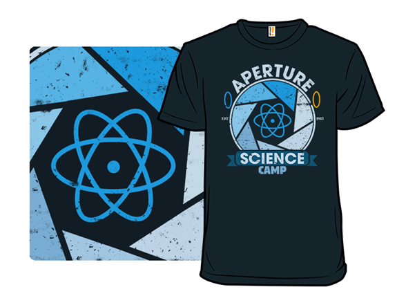 Aperture Science Camp T Shirt