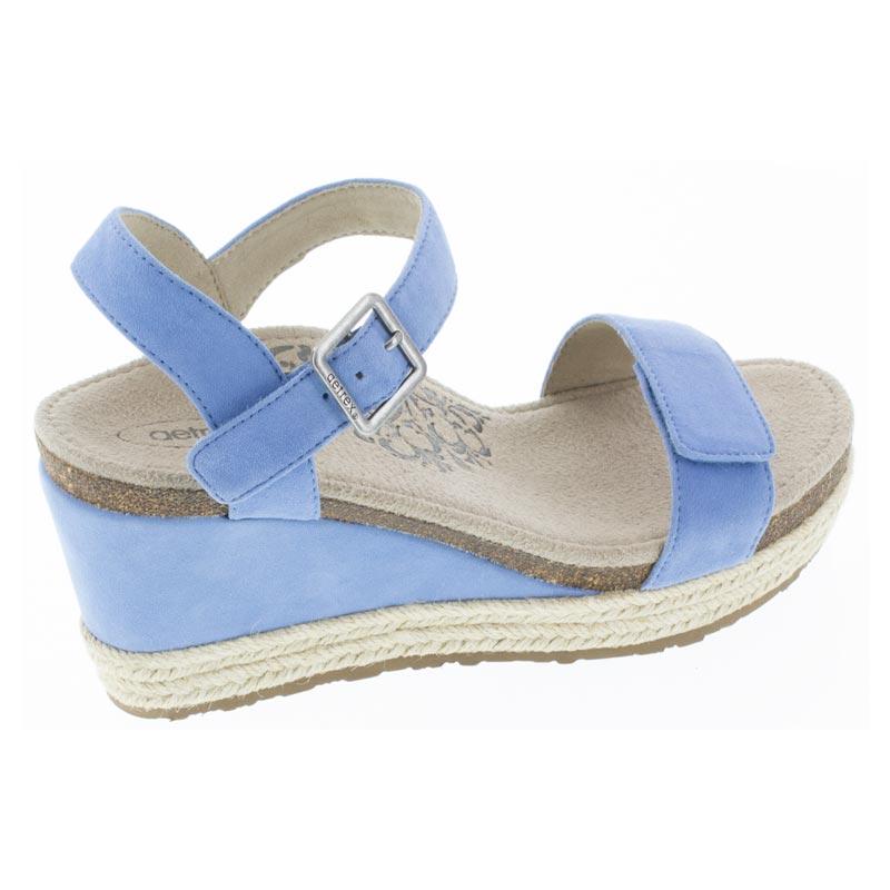 Aetrex Sydney Spring Blue Leather High Heel 38