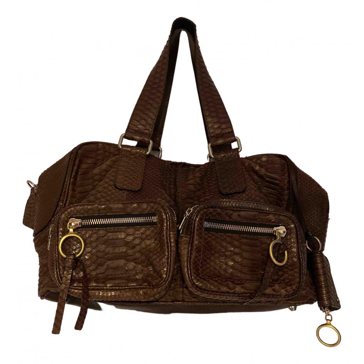 Chloé N Brown Python handbag for Women N