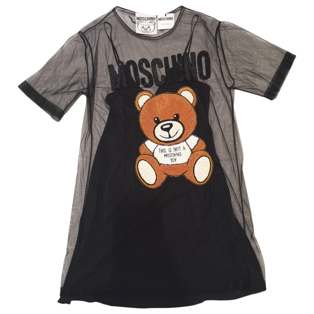 Moschino \N Kleid in  Schwarz Seide