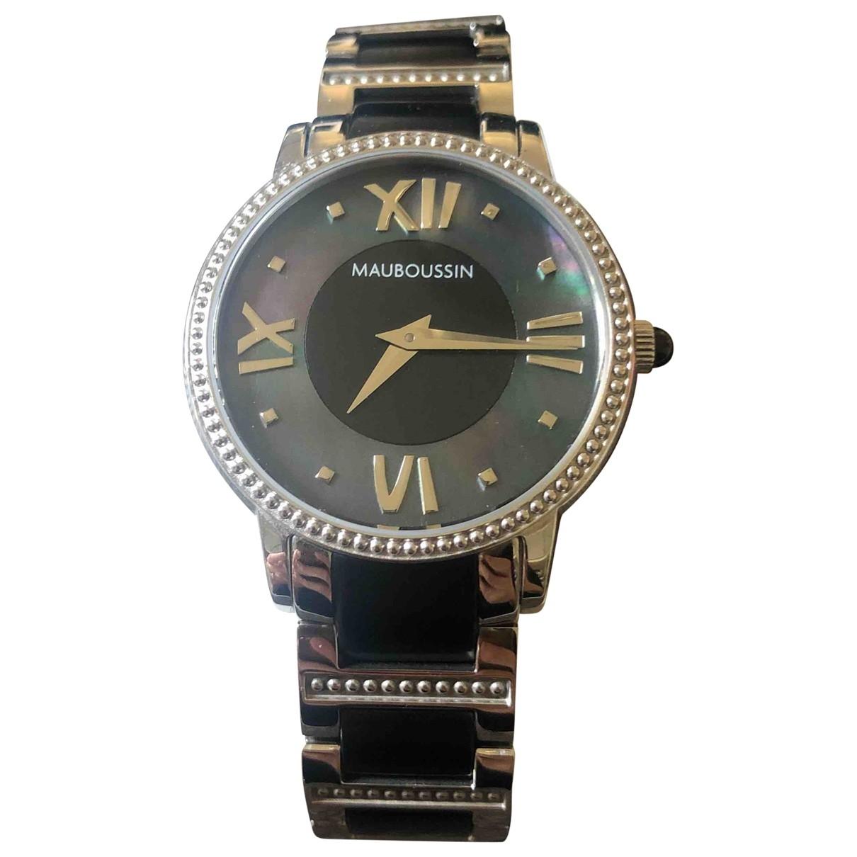Mauboussin \N Black Steel watch for Women \N