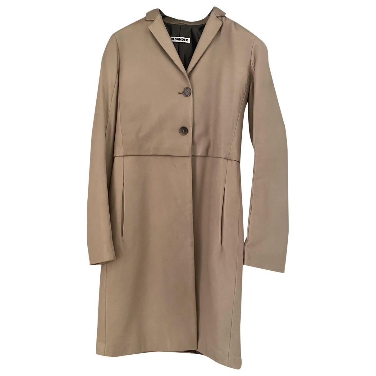 Jil Sander - Veste   pour femme en cuir - gris