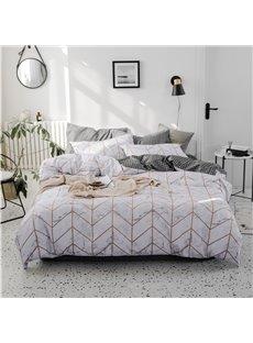 Golden Arrow Pattern Concise Style 4-Piece Cotton Bedding Sets/Duvet Covers