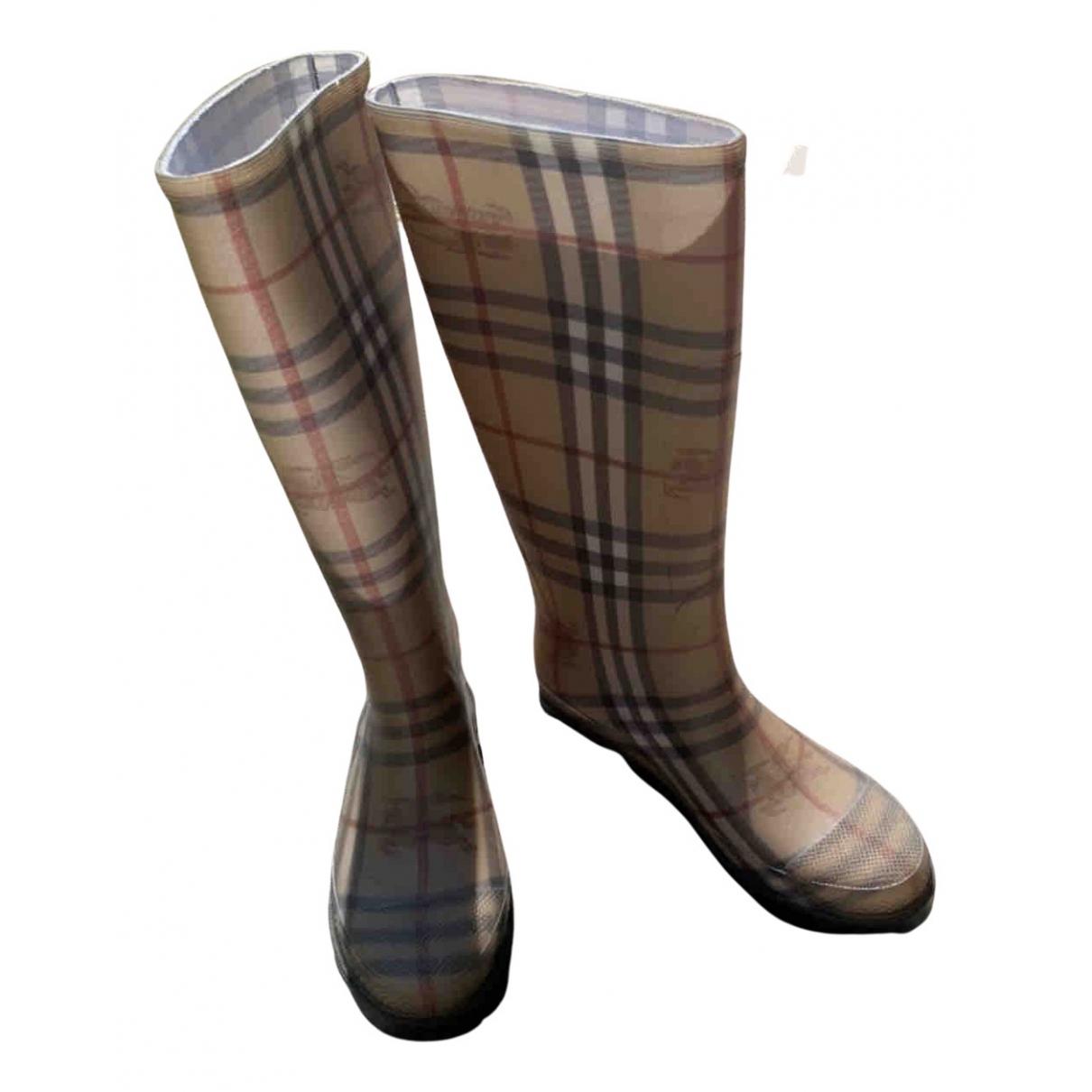 Burberry N Brown Rubber Boots for Women 37 EU