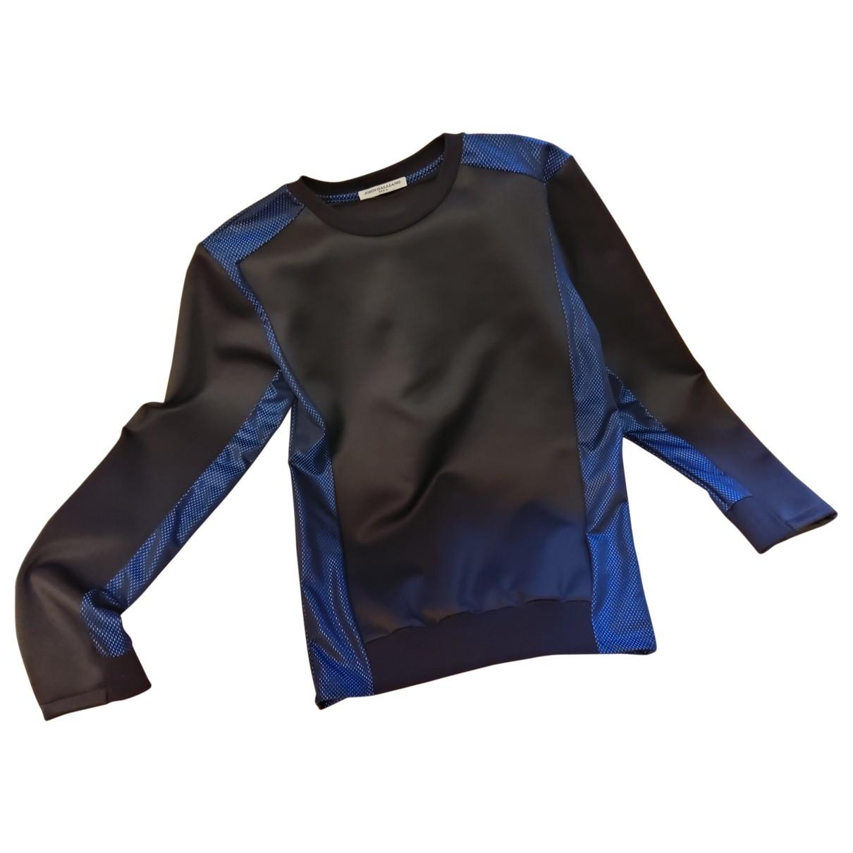 John Galliano \N Pullover.Westen.Sweatshirts  in  Schwarz Synthetik