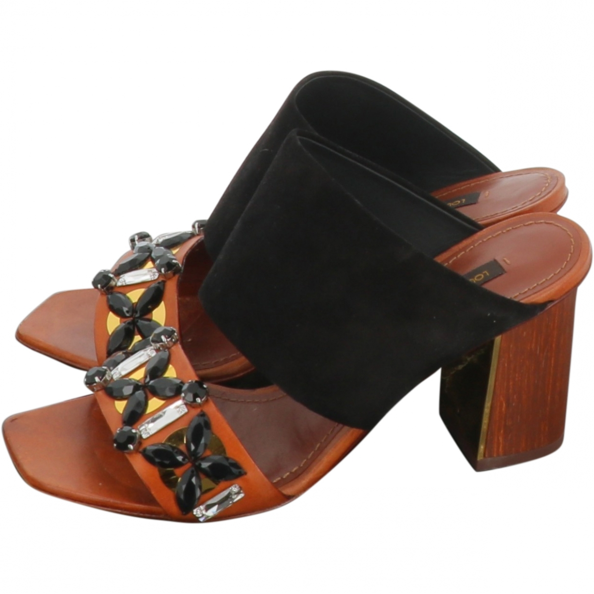 Louis Vuitton \N Brown Leather Sandals for Women 36 EU