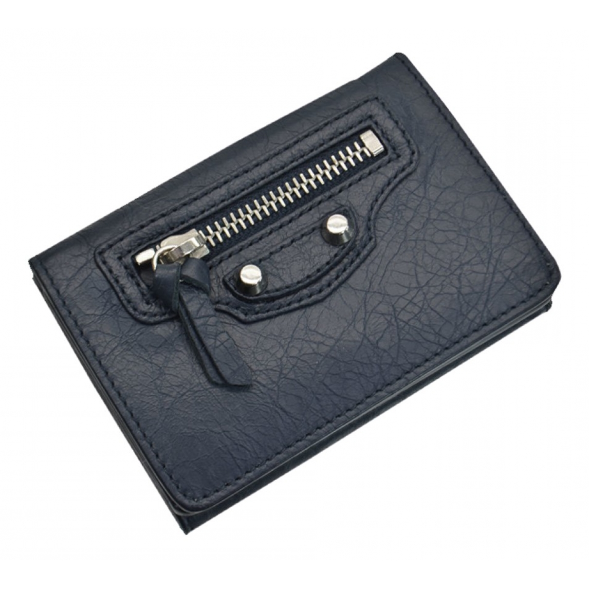 Balenciaga \N Navy Leather Small bag, wallet & cases for Men \N